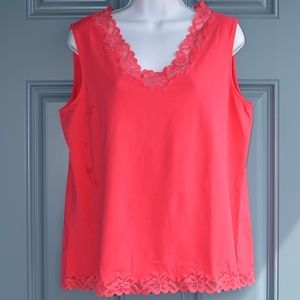 Classic Red Double Lace Tank by Coldwater Creek.
